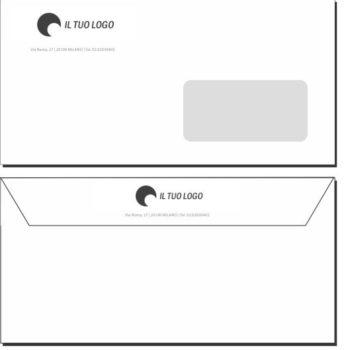 Buste da Lettera – 11×22 – Con Finestra – Modello 1