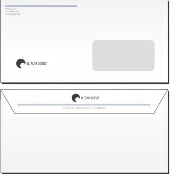 Buste da Lettera – 11×22 – Con Finestra – Modello 3