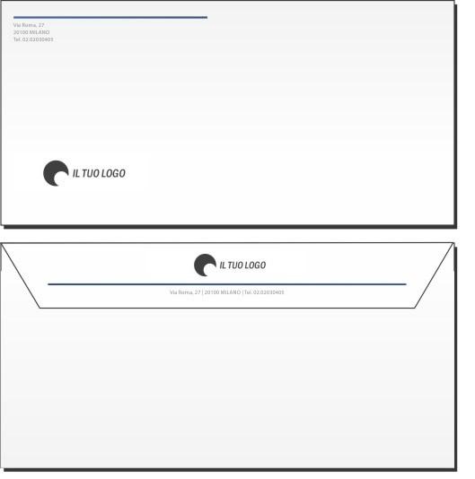 Amato Buste da Lettera Personalizzate senza Finestra | TipografiaClick PH52