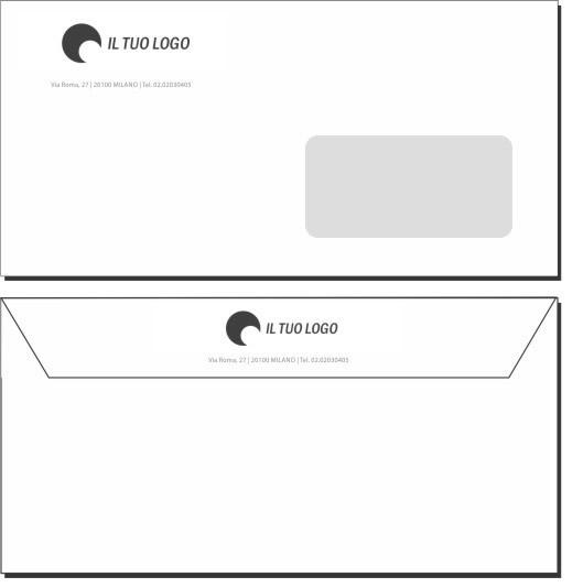 Favorito Buste da Lettera - 11x22 - Con Finestra - Modello 1 | TipografiaClick GH94